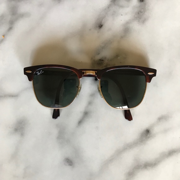 ray ban clubmaster sunglasses black and gold